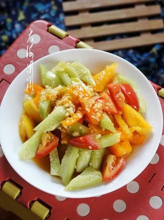 糖蒜黄瓜西红柿的做法