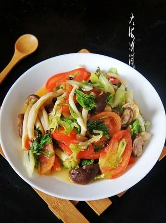 爆炒杂菌小白菜的做法