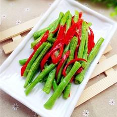红椒炒豆角