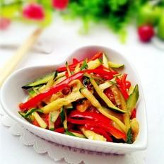 红椒炒黄瓜丝