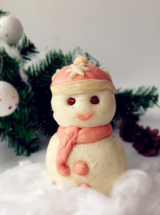 雪人豆沙包的做法