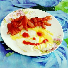 小红肠煎蛋