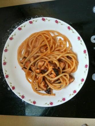 香菇番茄意大利面的做法