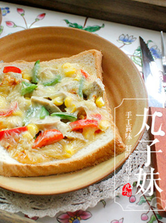 香菇肉丸芝士吐司