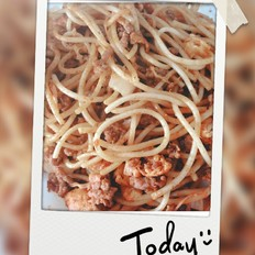 炒面 (韩式辣酱,牛肉馅儿)
