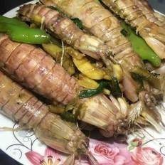 爆炒濑尿虾(皮皮虾)