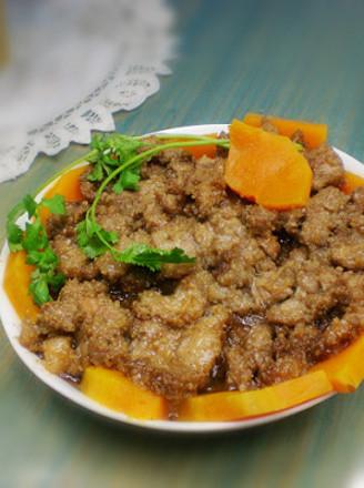 南瓜粉蒸肉的做法
