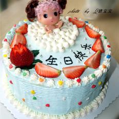 泡浴娃娃生日蛋糕