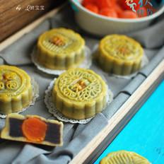 蛋黄红豆蓉月饼,低筋粉版