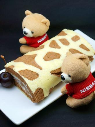 长颈鹿纹可可蛋糕卷