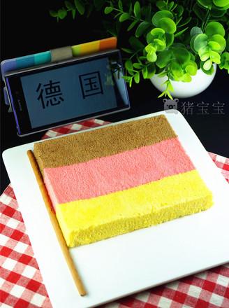 创意国旗蛋糕之德国