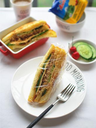 打印一键欧式三明治面包的做法(美食杰)