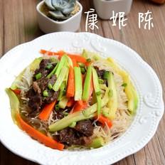 #广东小吃#牛肉炒米粉