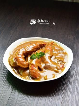 咖喱虾的做法