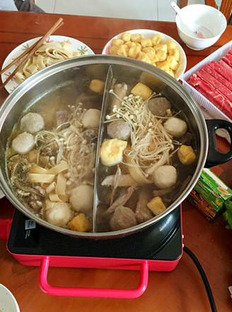 打印茶树菇鸡汤火锅的做法(美食杰)