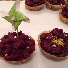 饺子皮紫薯塔
