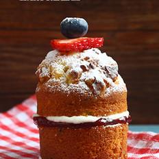 核桃黄油蛋糕(参考份量:4个)