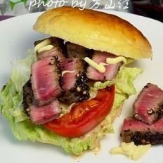 黑椒牛排汉堡