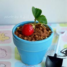 盆栽冰激凌蛋糕