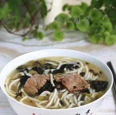 #上海小吃#雪菜煨面
