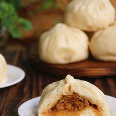 #上海小吃#笋肉大包