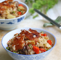 杂蔬排骨焖饭