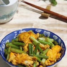 蒜苔炒草鸭蛋