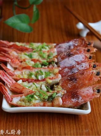 柠香蒜蓉蒸红虾