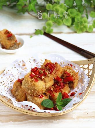 #上海小吃#椒盐豆腐的做法