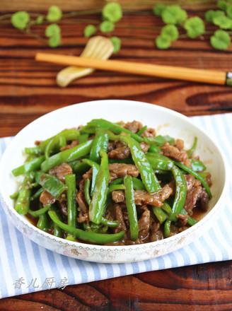 蚝油青椒牛柳的做法