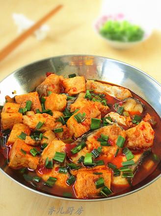 青鱼炖冻豆腐