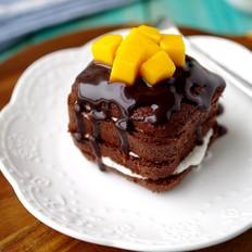 芒果可可蛋糕
