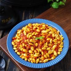 茄汁焗黄豆