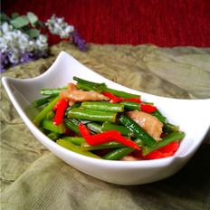 韭菜苔肉丝