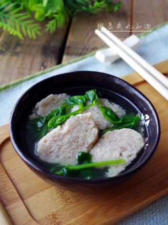 #四川特色#豌豆尖圆子汤的做法