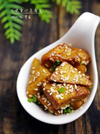叉烧蜜汁豆腐角的做法