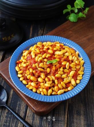 茄汁焗黄豆的做法