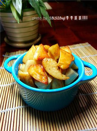 黑椒盐烤杏鲍菇