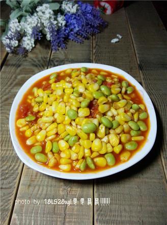 玉米烧毛豆