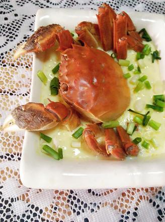 螃蟹蒸蛋羹的做法