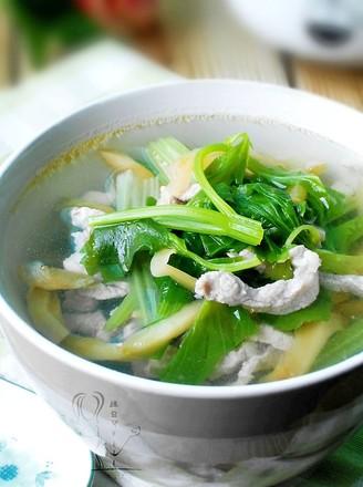 榨菜芹菜肉丝汤