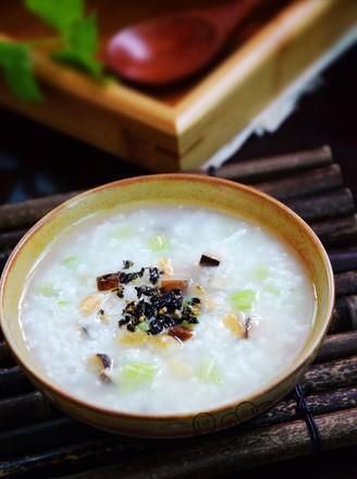 芹菜香菇虾米粥的做法