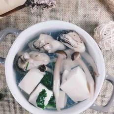 宝宝辅食   牡蛎豆腐菌菇汤
