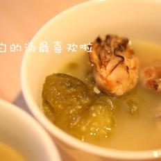 奶白奶白的苦瓜汤的做法[图]