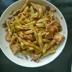 肉片烩豆角的做法[图]