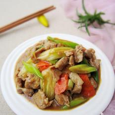 大葱炒肉片