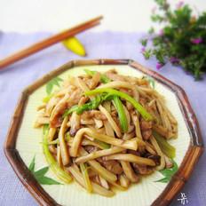 杏鲍菇炒肉丝