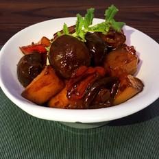 萝卜素烧香菇