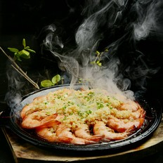铁板蒜蓉虾