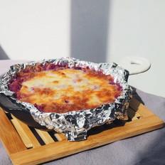 网红小吃芝士焗紫薯